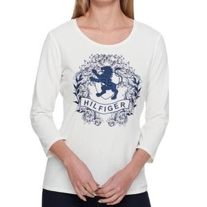 Tommy Hilfiger 3/4 Sleeve Graphic Tee NWT